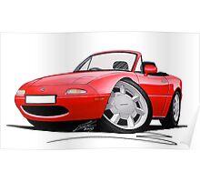 Mazda MX5 / Miata (Mk1) Red Poster
