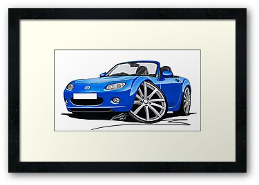Mazda MX5 (Mk3) Blue by Richard Yeomans