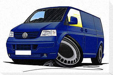VW T5 Transporter Van Indian Blue by Richard Yeomans