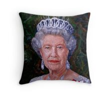 HM The Queen Throw Pillow