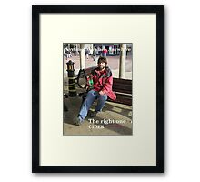 Anytime, Anyplace, Anywhere - Cider Framed Print