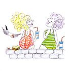lunch on the wall by Tessie Dowling
