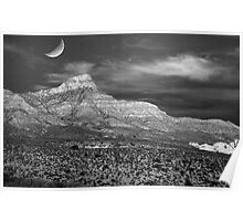 Red Rock Canyon in B&W Poster
