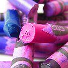 Crayola Crayon Columns Lay in Ruins by M-EK
