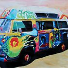 Surf Bus Series:  Here Comes the Sun Surf Bus by artshop77