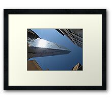 Looking up from Ground Zero Framed Print