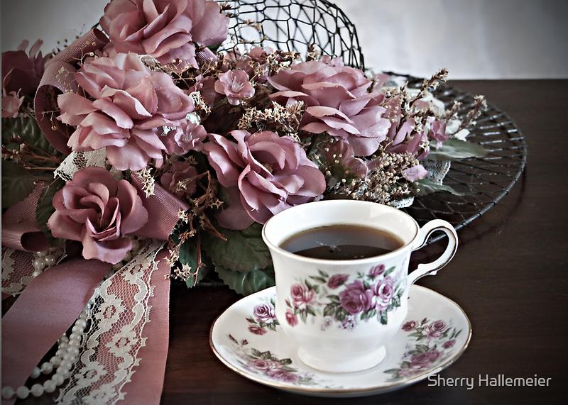 Ladies Having Tea by Sherry Hallemeier