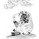 """""""Dreamy sheep"""" by Tatjana Larina"""
