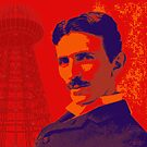  Nikola Tesla by popartworks.com by minjean