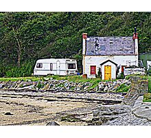 Abandoned By The Shore Photographic Print