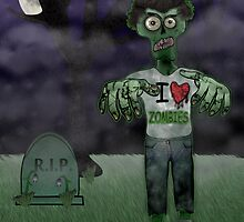 I <3 Zombies by BluAlien