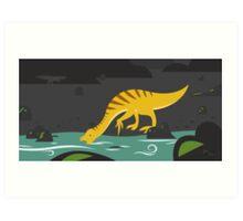 Beipiaosaurus and Psittacosaurus Art Print