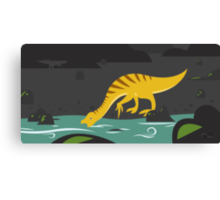 Beipiaosaurus and Psittacosaurus Canvas Print