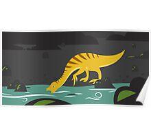 Beipiaosaurus and Psittacosaurus Poster