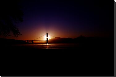 Sunset on Golden Gate (Dark) by YlemPhotography