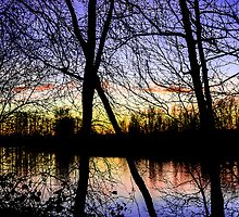 Colorful River Sunset by kendlesixx