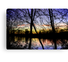 Colorful River Sunset Canvas Print