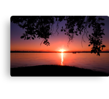 Redland Sunrise - Victoria Point Qld Australia Canvas Print