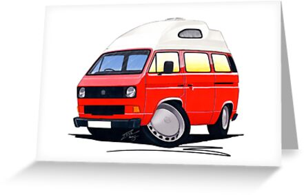 VW T25 / T3 (High Top) Red by Richard Yeomans