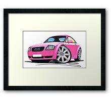 Audi TT Pink Framed Print