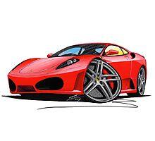 Ferrari F430 Red Photographic Print