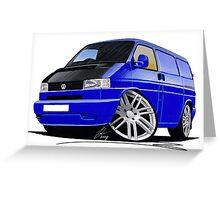 VW T4 Transporter Van Blue A Greeting Card