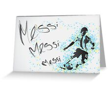 Lionel Messi Poster Greeting Card