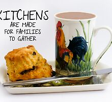 Kitchen saying note card by Moonlake