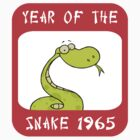 Year of The Snake 1965 T-Shirt by ChineseZodiac