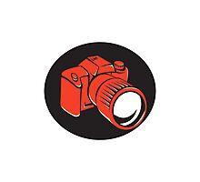 DSLR digital camera front retro Photographic Print