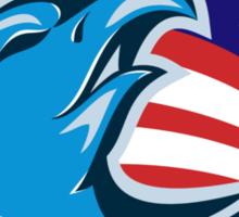 team USA bald eagle american stars and stripes flag  Sticker