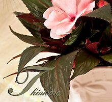 Thinking Of You - Card Impatience Flower by Sandra Foster