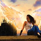 Angel on the roof by Stacy Parker