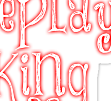 Roleplaying King Sticker