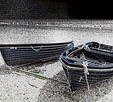 Boats at rest  Glowing edge version by Shoshonan
