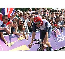 Bradley Wiggins - Gold in Mens Individual Time Trial - London 2012 Photographic Print