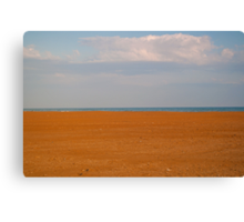 The border from earth and sky Canvas Print