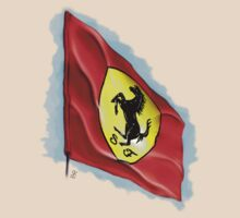 Ferrari Flag T Shirt by Simon Kelshaw