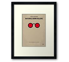 No139 My Natural Born Killers minimal movie poster Framed Print