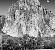 Moon over El Capitan, Yosemite National Park, California by Pete Paul