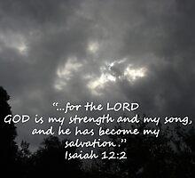 """Isaiah 12:2""  by Carter L. Shepard by echoesofheaven"