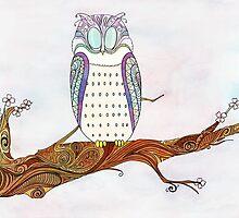 Owl on a Branch by Sherlock-ed