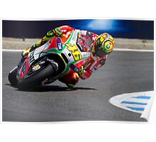 Valentino Rossi at laguna seca 2012 Poster