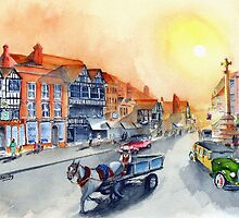 TEWKSBURY high street - Gloucester England by Rob Beilby