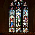 Uplyme Church Window, Devon Uk by lynn carter