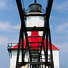 Lighthouse and Catwalk, St. Joseph, Michigan by Kenneth Keifer