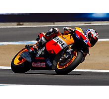 Casey Stoner at laguna seca 2012 Photographic Print