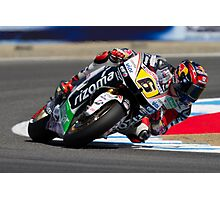 Stefan Bradl at laguna seca 2012 Photographic Print