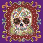 Colorful Day of the Dead Sugar Skull Shirt by Thaneeya McArdle