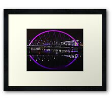 Clyde Arc Glasgow Framed Print